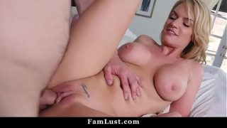 Horny Housewife Fucked By Stepson While Husband is Napping