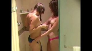 Horny Sisters masturbating in the shower