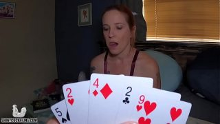 Strip Poker with Mom Shiny Cock Tight pussy fuck